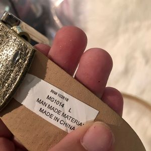 Accessories - Gold Metallic Studded Belt Large